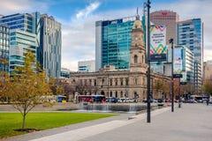 Victoria Square herein, Adelaide CBD, Süd-Australien Stockfoto