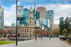 Victoria Square herein, Adelaide CBD, Süd-Australien Lizenzfreies Stockfoto
