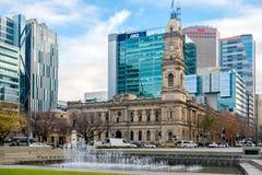 Victoria Square herein, Adelaide CBD, Süd-Australien Stockfotografie