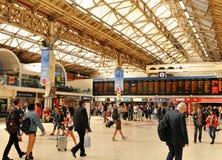 Victoria Station à Londres, R-U Photo libre de droits
