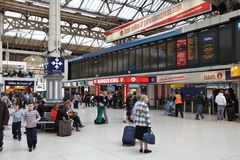 Victoria Station Imagens de Stock Royalty Free