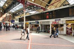 Victoria Station, Londen Royalty-vrije Stock Afbeelding