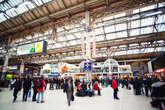 Victoria station London. View inside Victoria station in London Royalty Free Stock Photography
