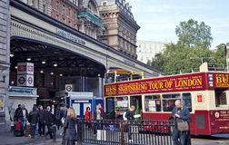 Victoria Station & tourism Stock Image