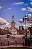 The victoria statue and the square outside Backighgam palace stock photo