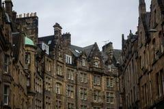Victoria street in a cloudy day, Edinburgh, Scotland, UK. Buildings at Victoria street  in a cloudy day, Edinburgh, Scotland, UK Stock Photography
