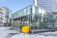 Victoria Subway Station Entrance quadrada imagens de stock royalty free