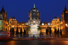 Victoria terminal CST, Mumbai, India stock images