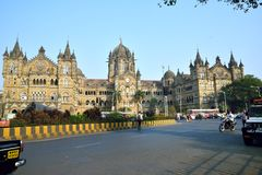 Victoria Terminus, Bombay image libre de droits