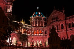 Victoria Terminus Celebration Lighting-vI Royalty Free Stock Photo