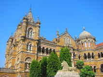Victoria Terminus Train Station in Mumbai Stock Image