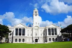 Victoria Theatre and Concert Hall in Singapore city Royalty Free Stock Photos