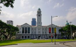 Victoria Theatre and Concert Hall in Singapore stock photos