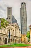 Victoria Theatre och konserthall i Singapore Arkivfoto