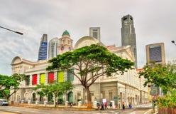Victoria Theatre och konserthall i Singapore Royaltyfria Foton