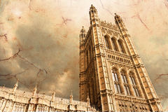 Victoria Tower. Houses of parliament - Victoria Tower stock photo