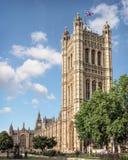 Victoria Tower bij het Paleis van Westminster in Londen Stock Afbeeldingen