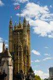 Victoria Tower an einem sonnigen Tag lizenzfreie stockfotografie