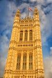 Victoria Tower en Londres, Reino Unido Foto de archivo libre de regalías