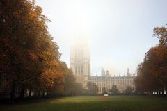 Victoria Tower in Fog Royalty Free Stock Photos