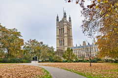 Victoria Tower Gardens at London, England Stock Images
