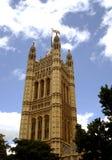 Victoria Tower House del Parlamento Londra, Inghilterra Fotografia Stock Libera da Diritti