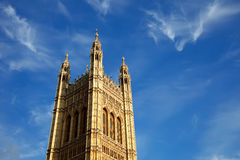 Victoria Tower, Houses of Parliament. London, UK Stock Photo