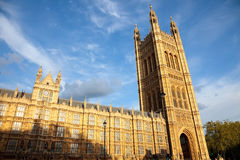 Victoria Tower, Houses of Parliament. London, UK Royalty Free Stock Photography