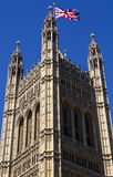 The Victoria Tower of the Houses of Parliament. /Palace of Westminster in London Royalty Free Stock Image