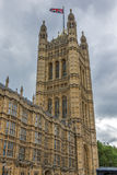 Victoria Tower in Houses of Parliament, Palace of Westminster,  London, England Stock Images