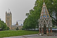 Victoria Tower in Houses of Parliament, Palace of Westminster, London, England, Great Britain Royalty Free Stock Photography