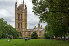 Victoria Tower in Houses of Parliament, Palace of Westminster, London, England, Great Britain Stock Images
