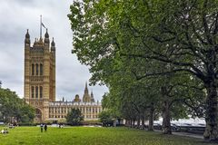 Victoria Tower in Houses of Parliament, Palace of Westminster, London, England, Great Britain Stock Photos