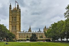 Victoria Tower in Houses of Parliament, Palace of Westminster, London, England, Great Britain Stock Photography