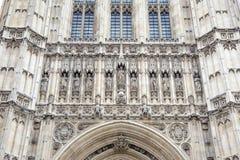 Victoria Tower, Huizen van het Parlement, Westminster; Londen Stock Foto