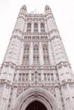 Victoria Tower, Huizen van het Parlement, Westminster; Londen Stock Foto's