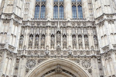 Victoria Tower hus av parlamentet, Westminster; London Arkivfoto