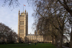 Victoria Tower of the Houses of Parliament in Lond Royalty Free Stock Photo