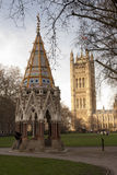 Victoria Tower of the Houses of Parliament in Lond Stock Image