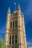 Victoria tower in London. Victoria Tower in the Palace of Westminster in London, United Kingdom royalty free stock photography