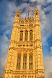 Victoria Tower a Londra, Regno Unito fotografia stock libera da diritti