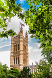 Victoria Tower nas casas do parlamento em Londres, Inglaterra Imagem de Stock Royalty Free