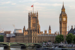 Victoria Tower of Palace of Westminster London Stock Image