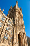 Victoria Tower, Palace of Westminster, London. Palace of Westminster, London. Victoria Tower, the highest point of the Palace of Westminster, the seat of UK Stock Photography