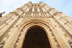 Victoria Tower, Palace of Westminster in London Stock Images