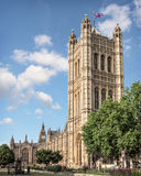 Victoria Tower at the Palace of Westminster in London Stock Images