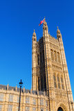 Victoria Tower of the Palace of Westminster Stock Photos