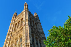 Victoria Tower of the Palace of Westminster Royalty Free Stock Photo
