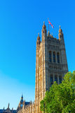 Victoria Tower of the Palace of Westminster Royalty Free Stock Image