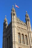 Victoria Tower of the Palace of Westminster Side Stock Images